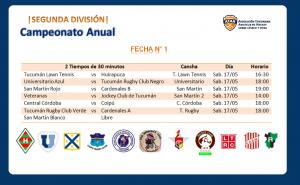 Segunda División   Fecha N° 1