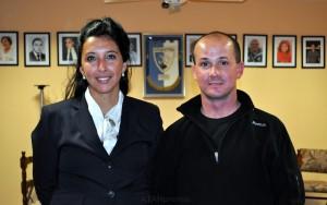 Verónica Villafañe y Esteban San Román, dos de los profesores a cargo del curso.