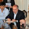 Cardenales: firma del convenio para su cancha sintética de hockey