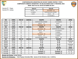 Fixture Torneo Regional