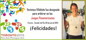 Verónica Villafañe fue designada para arbitrar en los Panamericanos 2015