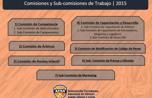 Se conformaron las Comisiones de trabajo