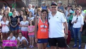 Abril López, goleadora del torneo | Foto: Salta Hockey TV