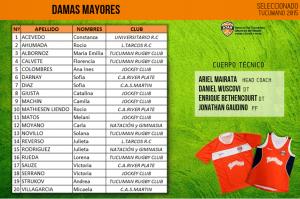 Seleccionado Damas Mayores 2015