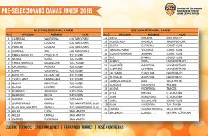 Preseleccionado Damas Junior 2016